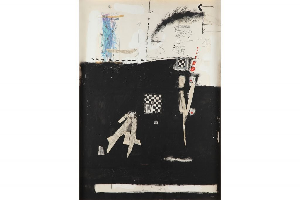 "MAGDALO MUSSIO ""Untitled"" - 1963 - mixed media on paper 100x70 cm"