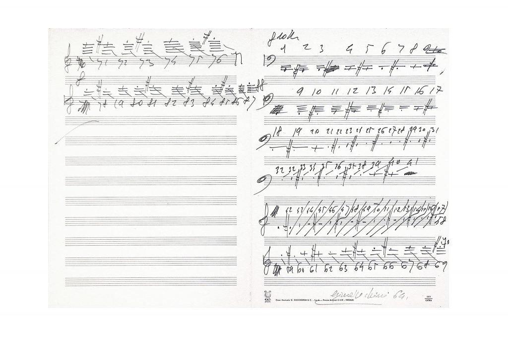 1---SENZA-TITOLO-1964---INCHIOSTRO-SU-PENTAGRAMMA-33X46.5-cm
