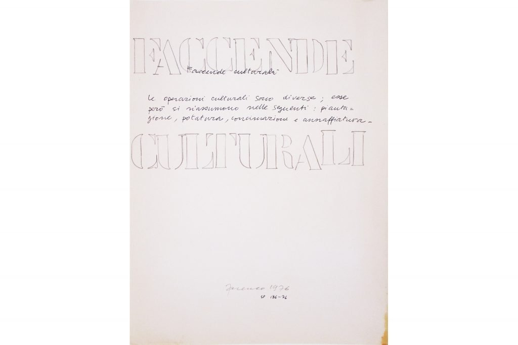 """SARENCO """"Faccende culturali"""" - 1976 - collage su carta 32.5X24 cm"""
