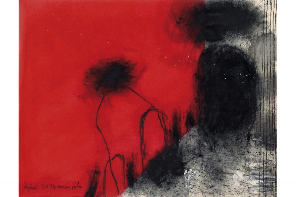 "ARCANGELO ""Irpini"" - 2014 - tecnica mista su tela 68x90 cm"