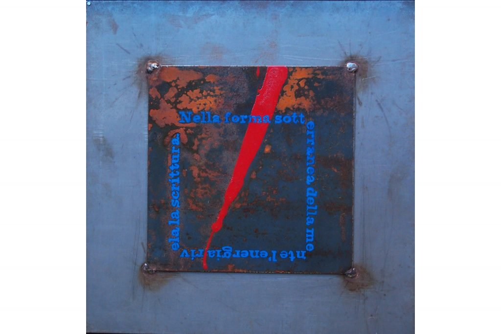 "UGO CARREGA ""Untitled"" - 1989 - paint on steel 36X36 cm"