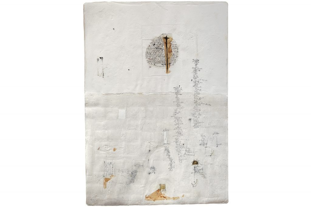 """MAGDALO MUSSIO """"Senza titolo"""" - 1989 - tecnica mista su tavola 100x71 cm"""