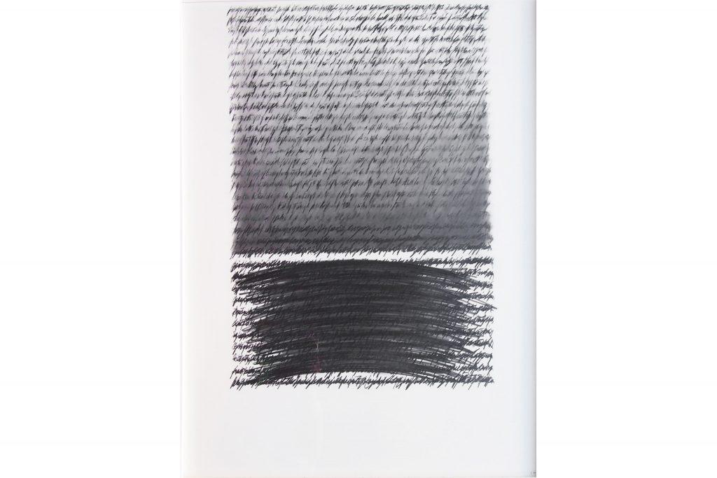 """ALESSANDRO ALGARDI """"Senza titolo"""" - 2013 - grafite su carta 105X75 cm"""