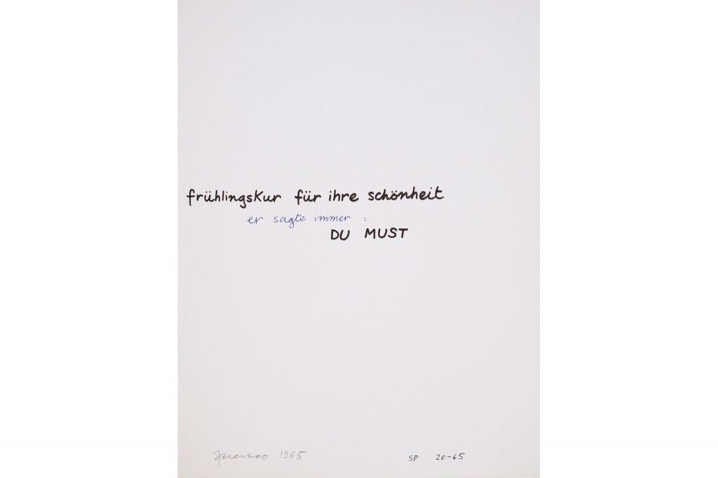"""SARENCO """"Du must"""" - 1965 - tecnica mista su carta 32.5X24 cm"""
