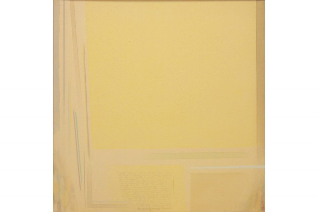 "RICCARDO GUARNERI ""Grande giallo"" - 2007 - mixed media on canvas 95X95 cm"