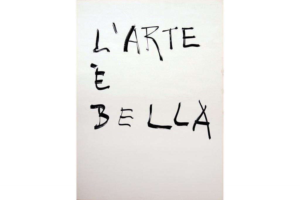 """GIUSEPPE CHIARI """"L'arte è bella"""" - 1975 - inchiostro su carta 70x50 cm"""