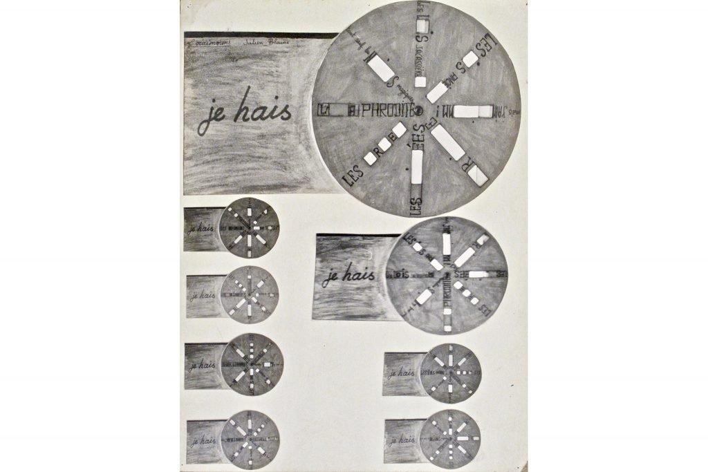2---Machines-a-langage-N_3-(L-oraimmens)---Tecnica-mista-su-cartoncino,-1963--30x22-cm