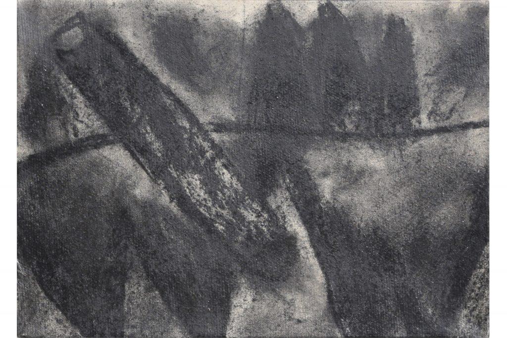 "ARCANGELO ""Nel giardino del mago"" - 1984 - tecnica mista su tela 18X24 cm"