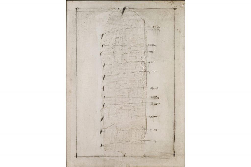 """MAGDALO MUSSIO """"Senza titolo"""" - 1969 - tecnica mista su cartone 70x50 cm"""