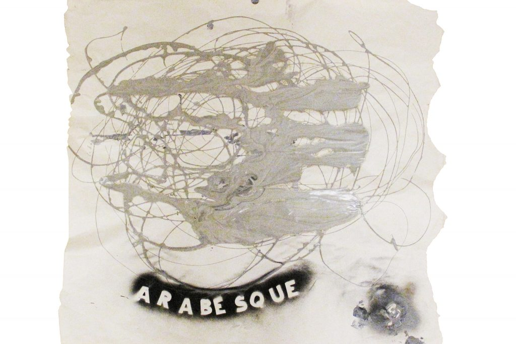 4--ARABESQUE--1964--acrilico-su-carta--80x90-cm