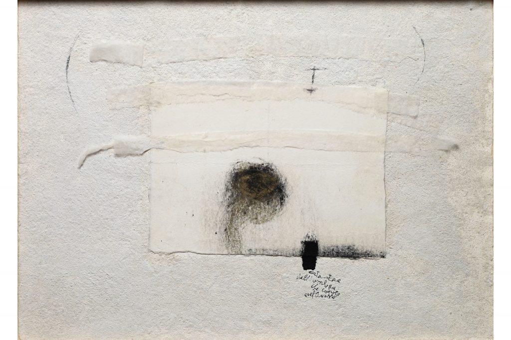 """MAGDALO MUSSIO """"Senza titolo"""" - 1980 - tecnica mista su tavola 25x35 cm"""