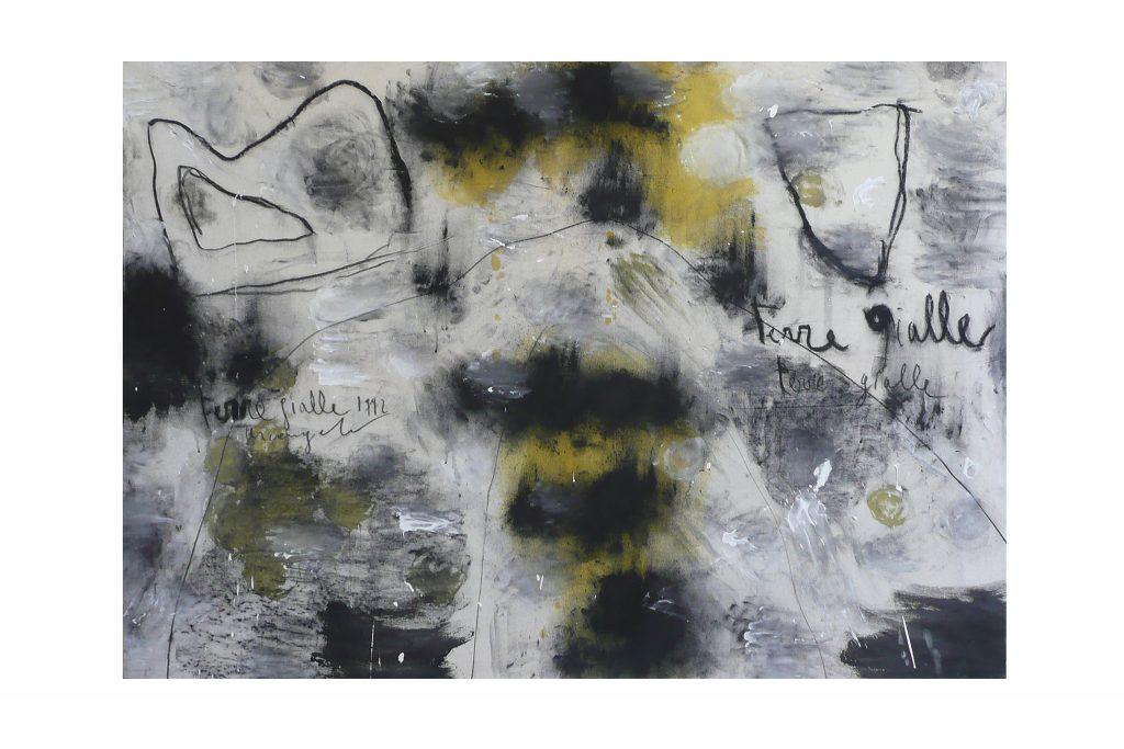 "ARCANGELO ""Terre gialle"" - 1992 - tecnica mista su tela 105x145 cm"