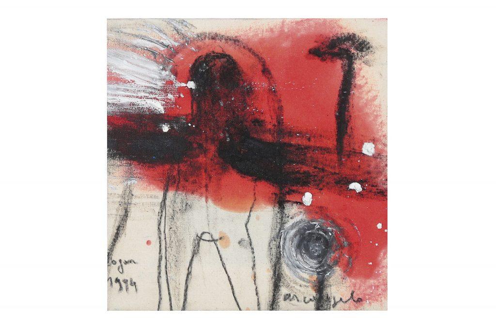"ARCANGELO ""Dogon"" - 1994 - tecnica mista su tela 28x26 cm"