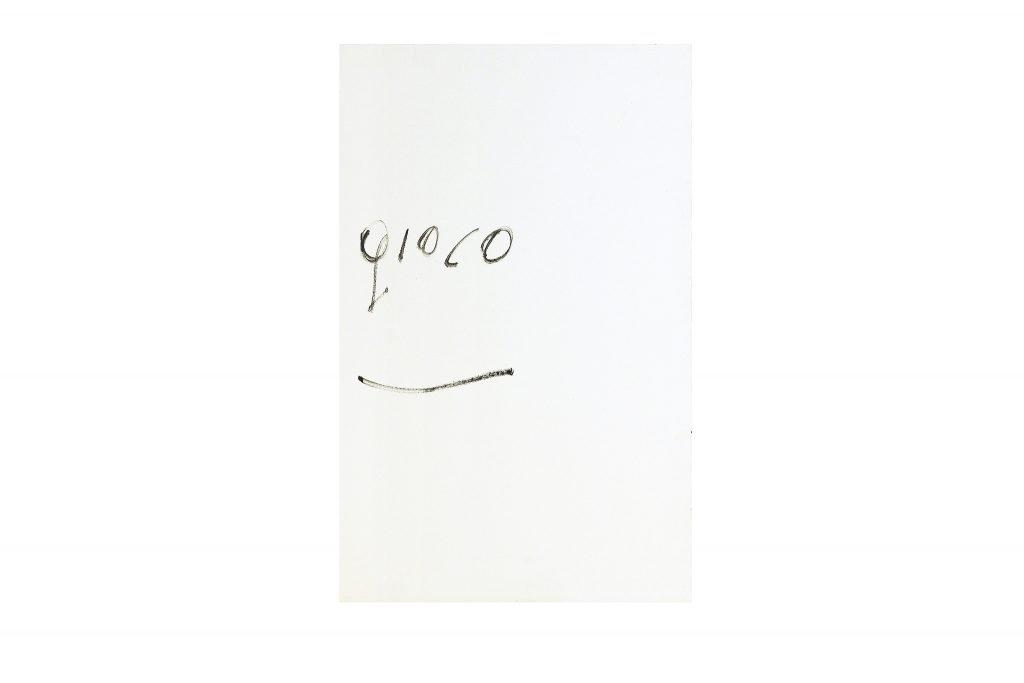"GIUSEPPE CHIARI ""Gioco"" - 1977 - pittura su tela 100X60 cm"
