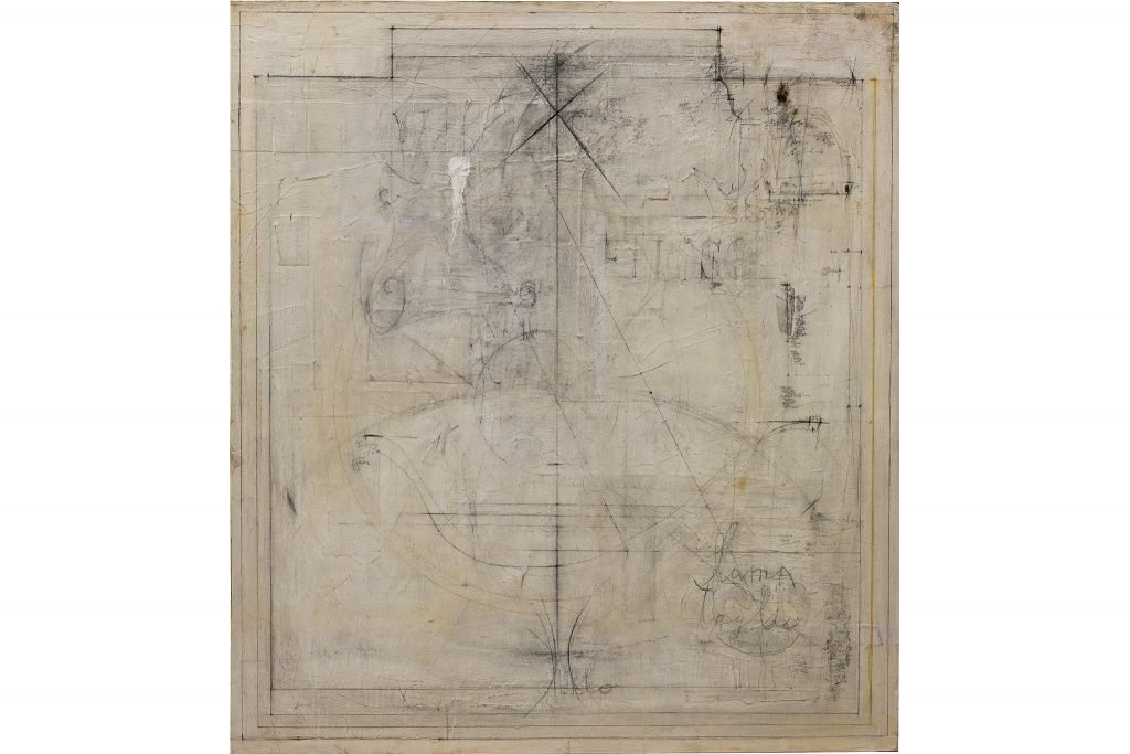 "MAGDALO MUSSIO ""Untitled"" - 1982 - mixed media on board 125x110 cm"