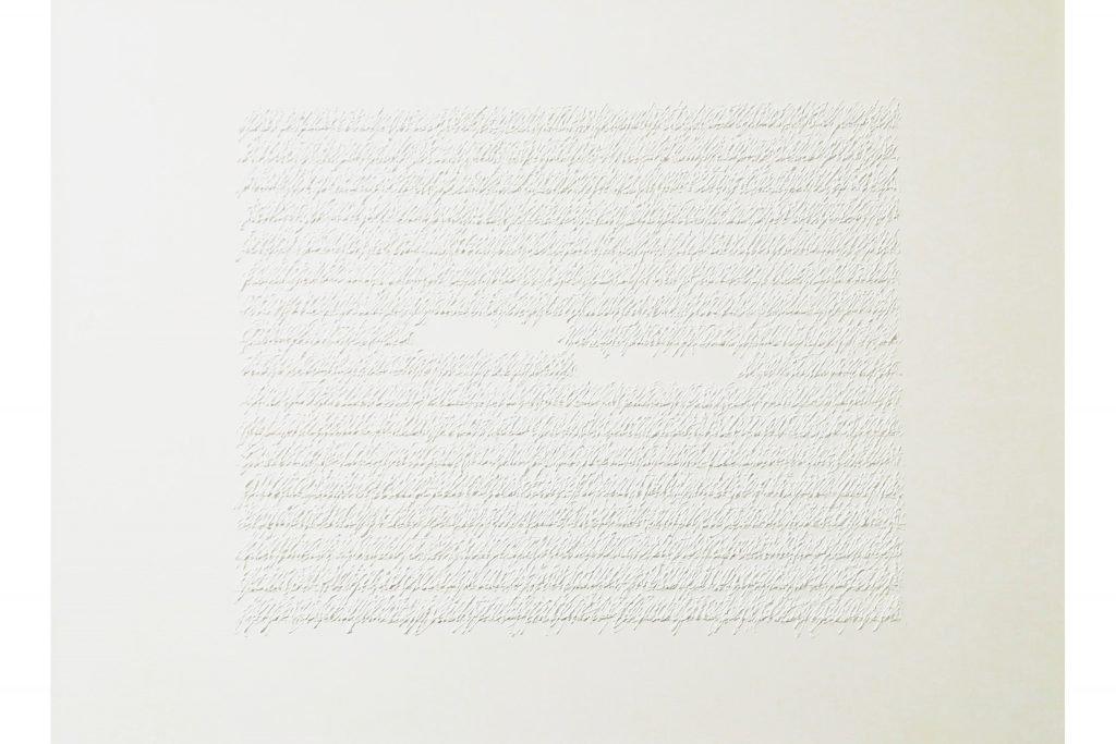 "ALESSANDRO ALGARDI ""Untitled"" - 2017 - acrylic on canvas paper 50x70 cm"