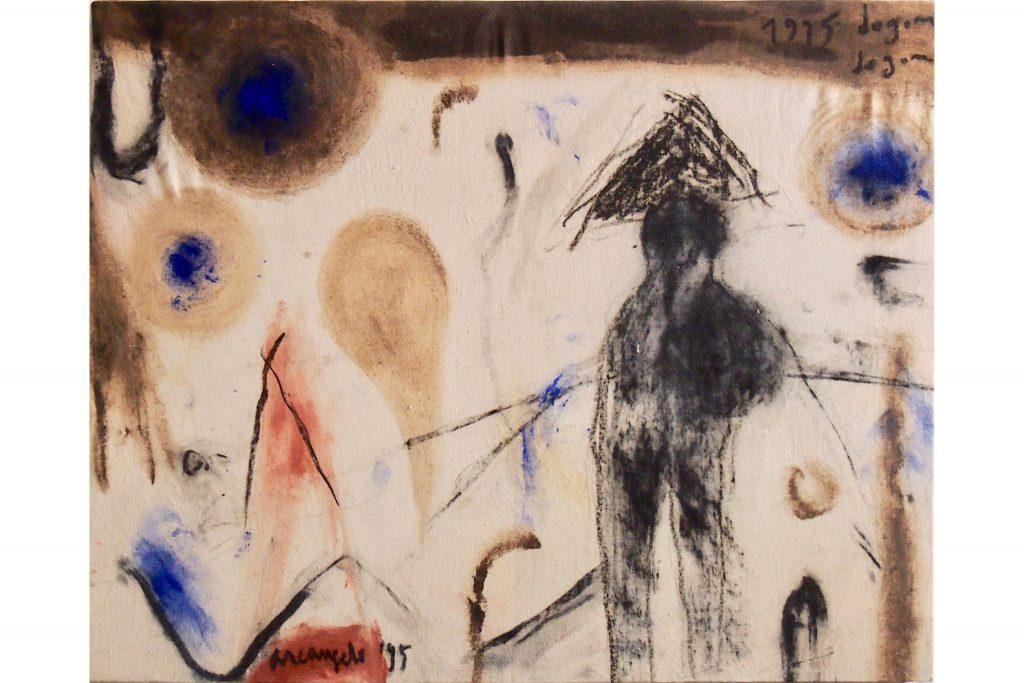 "ARCANGELO ""Dogon"" - 1995 - tecnica mista su tela 48X60 cm"