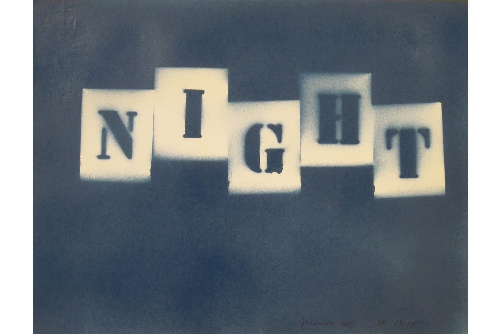 "SARENCO ""Night"" - 1969 - tecnica mista su carta 24X32.5 cm"