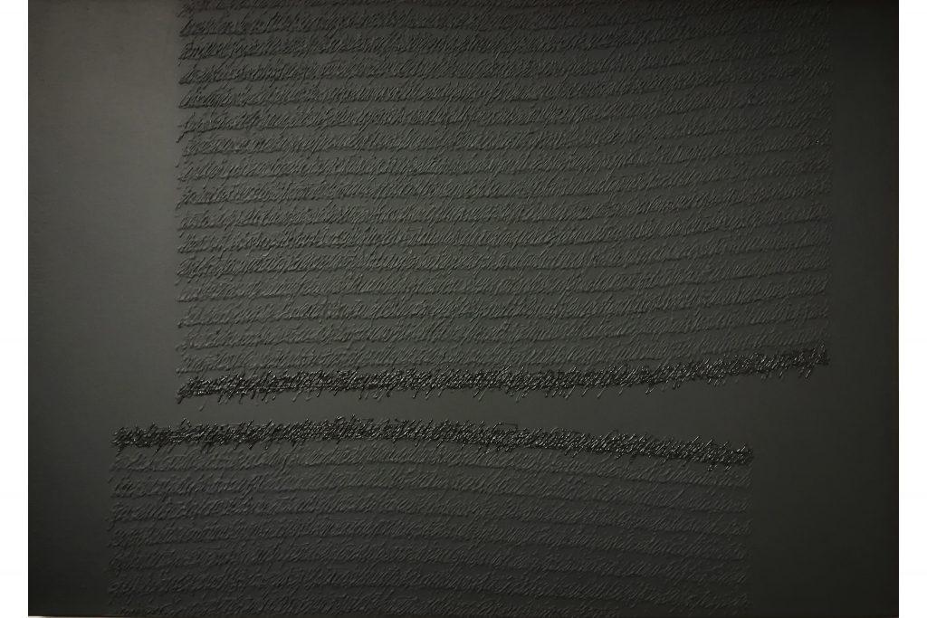 """ALESSANDRO ALGARDI """"Senza titolo"""" - 2017 - acrilico su carta intelata 50x70 cm"""