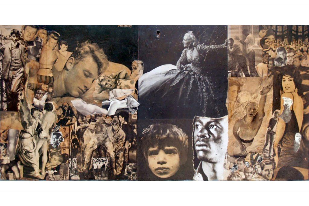 6---Sylvano-Bussotti--anni-60---collage-su-legno-di-recupero-39x75,5-cm-