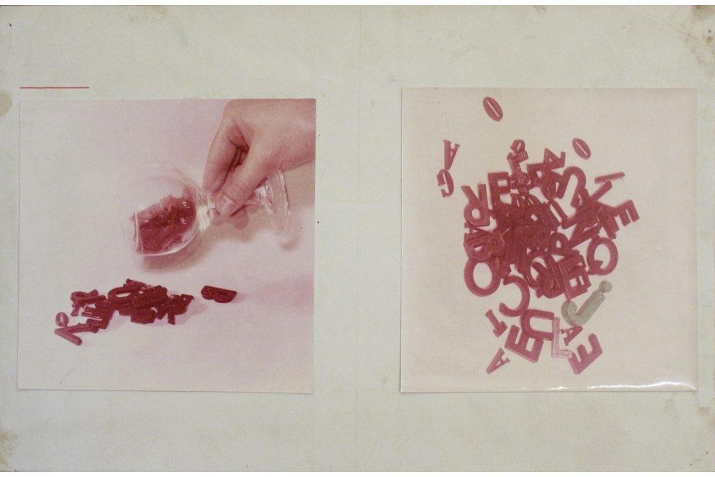 """JULIEN BLAINE """"Breuverage espandu"""" - 1967- foto su cartoncino 26,5x42,4 cm"""