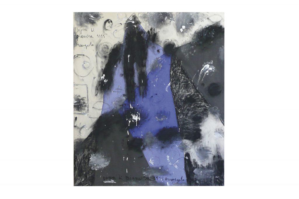 "ARCANGELO ""Dogon di pianura"" - 1995 - tecnica mista su tela 125x105 cm"