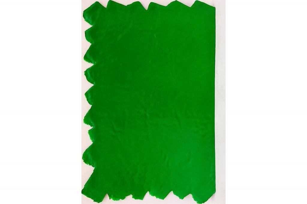 """ANTONIO SCACCABAROZZI """"Essenziale verde"""" - 1992 - acrilico e mastice 98,4x63 cm"""