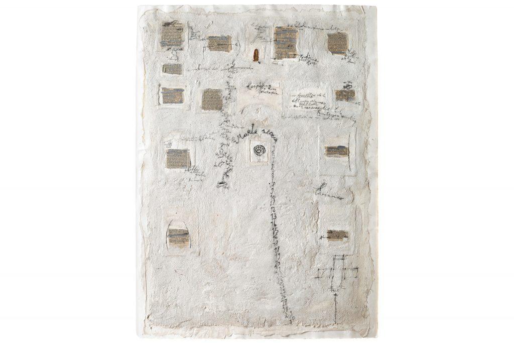 """MAGDALO MUSSIO """"Morte secca"""" - 1985 - tecnica mista su tavola 70x50 cm"""