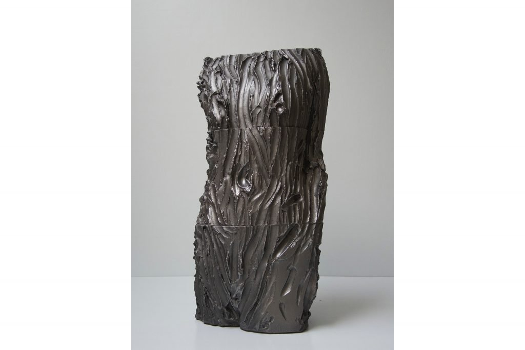 "ANTONIO VIOLETTA ""Torso"" - 2015 - pottery and graphite h 68 cm"