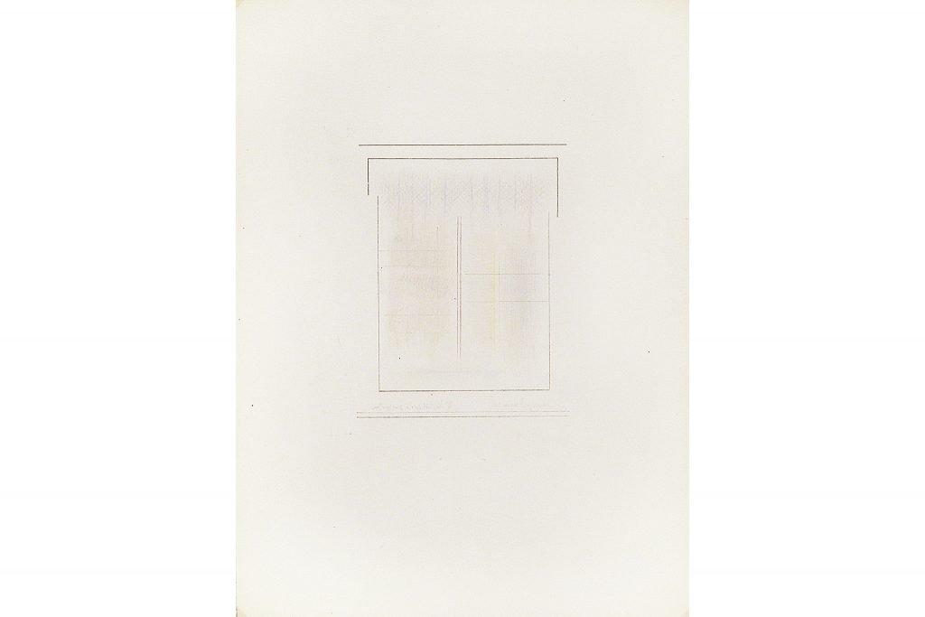 """RICCARDO GUARNERI """"Costruzione a due verticali"""" - 1966 - tecnica mista su carta 35X25 cm"""