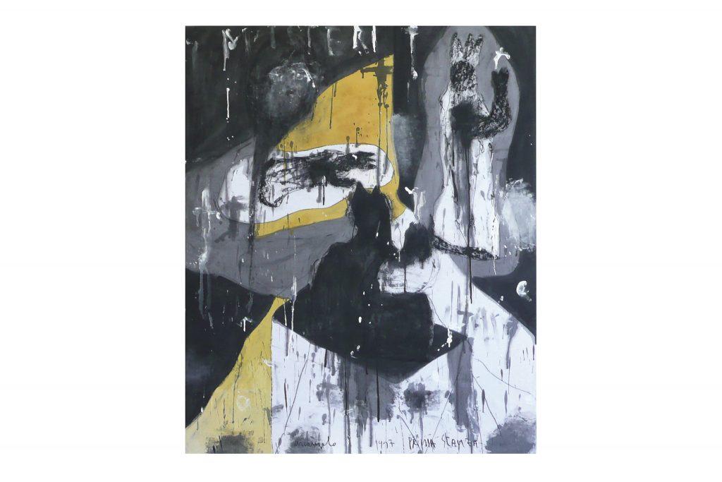 "ARCANGELO ""Misteri, prima stanza"" - 1997 - tecnica mista su tela 125x101 cm"
