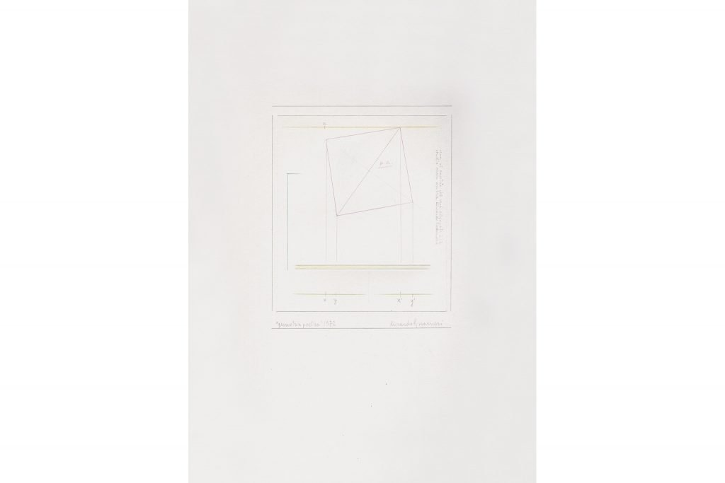 "RICCARDO GUARNERI ""Geometria poetica"" - 1972 - mixed media on paper 35X25 cm"