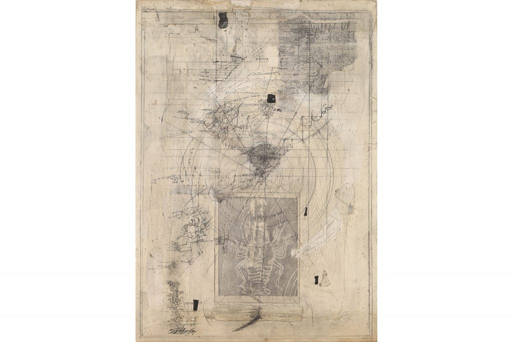"MAGDALO MUSSIO ""Untitled"" - 1987 - mixed media on board 90x60 cm"