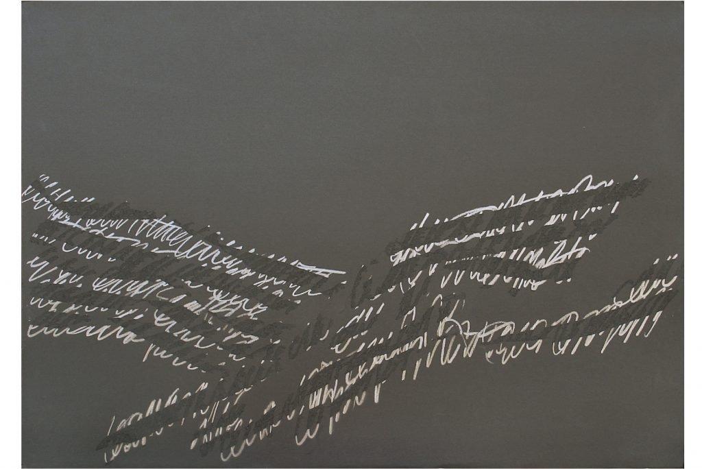"""ALESSANDRO ALGARDI """"Nero"""" - 1993 - grafite e abrasione su carta 70X100 cm"""