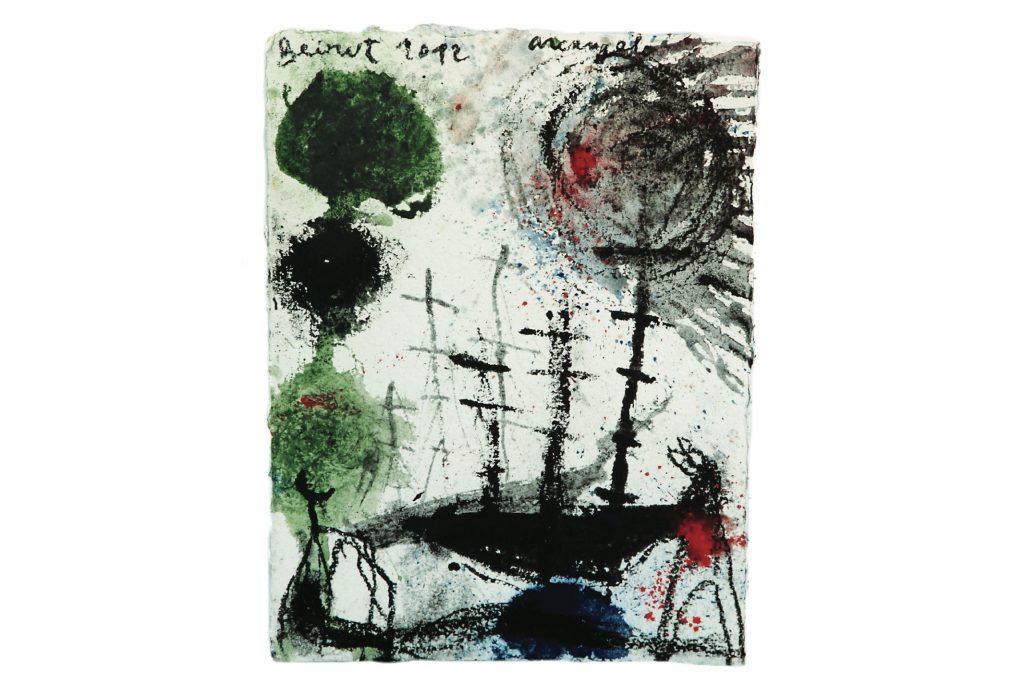 "ARCANGELO ""Beirut"" - 2012 - tecnica mista su carta 38.5x28 cm"