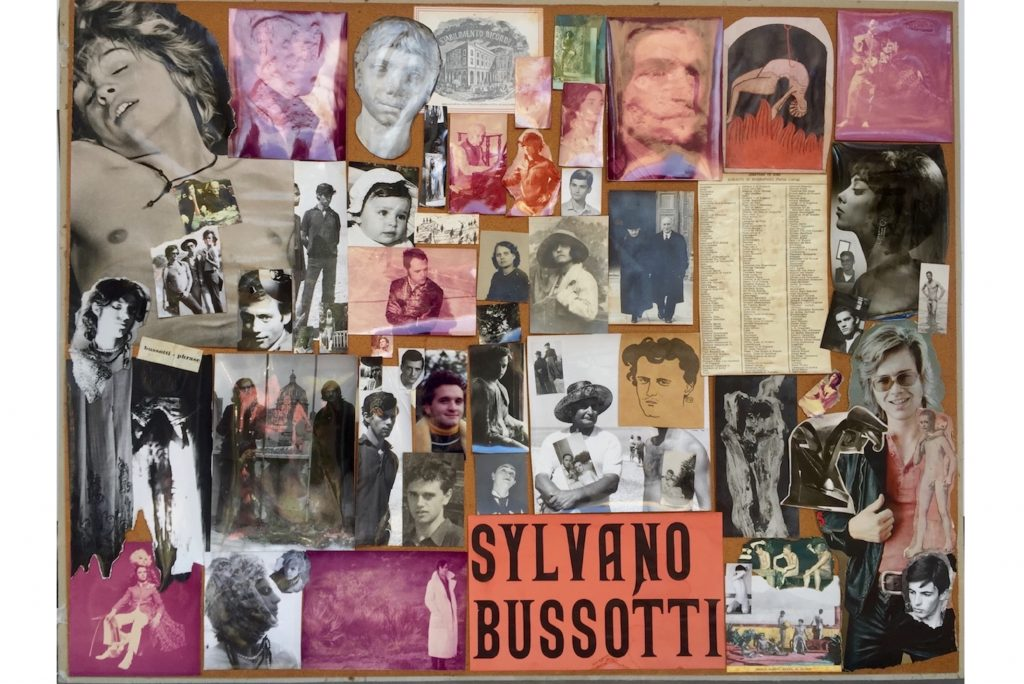 "SYLVANO BUSSOTTI ""Senza titolo"" - 70s - collage on board 60x79 cm"