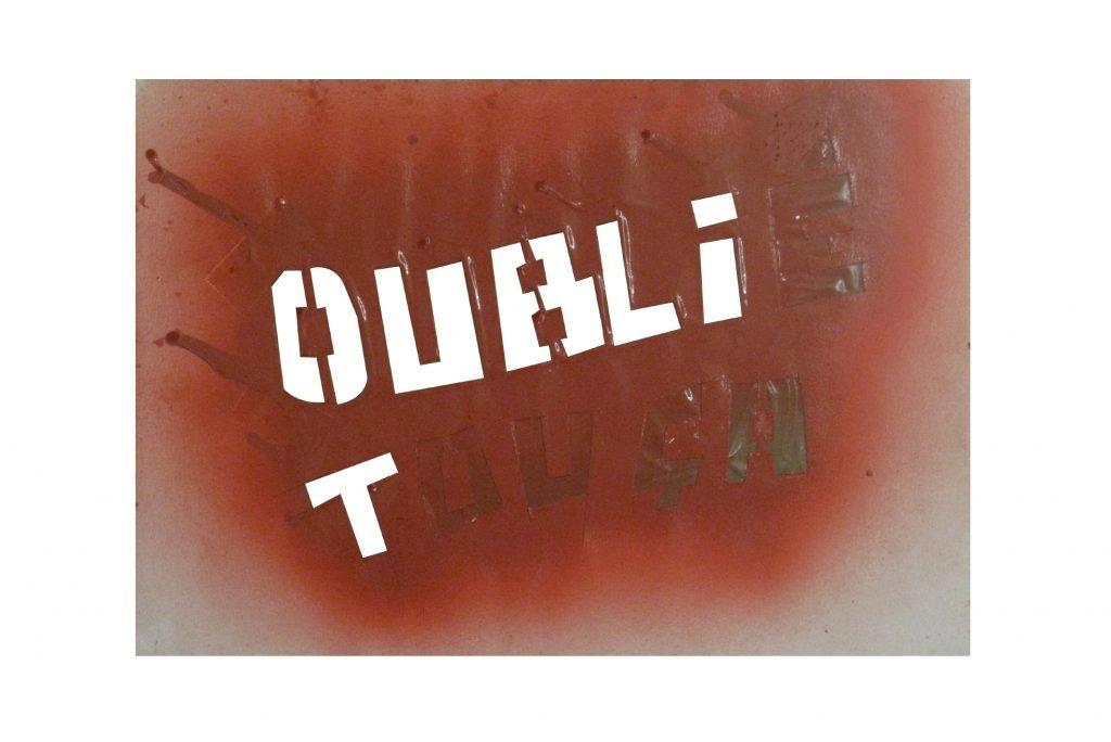 """JULIEN BLAINE """"Oubié touca"""" - 1986 - acrilico su carta ritagliata 20,5x29 cm"""