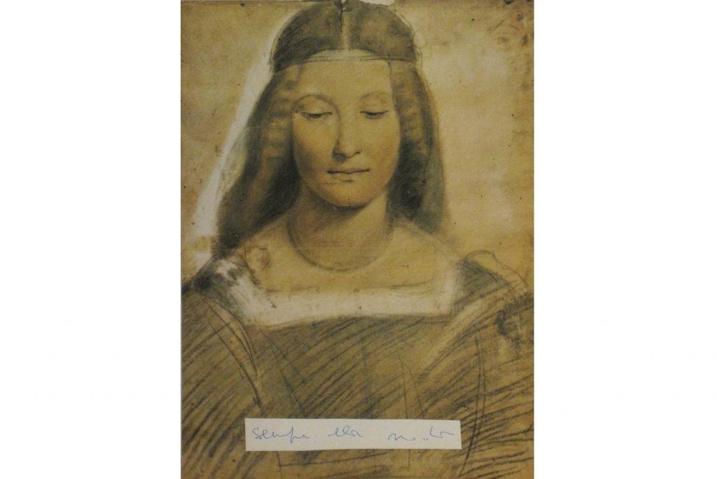 """LAMBERTO PIGNOTTI """"Sempre alla moda"""" - 1955/1960 - collage e inchiostro su carta 24x18 cm"""