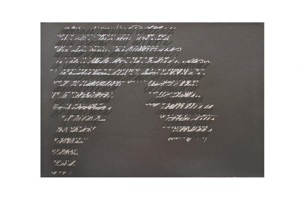 """ALESSANDRO ALGARDI """"Senza titolo"""" - 1984 - grafite e abrasione su carta 70X100 cm"""