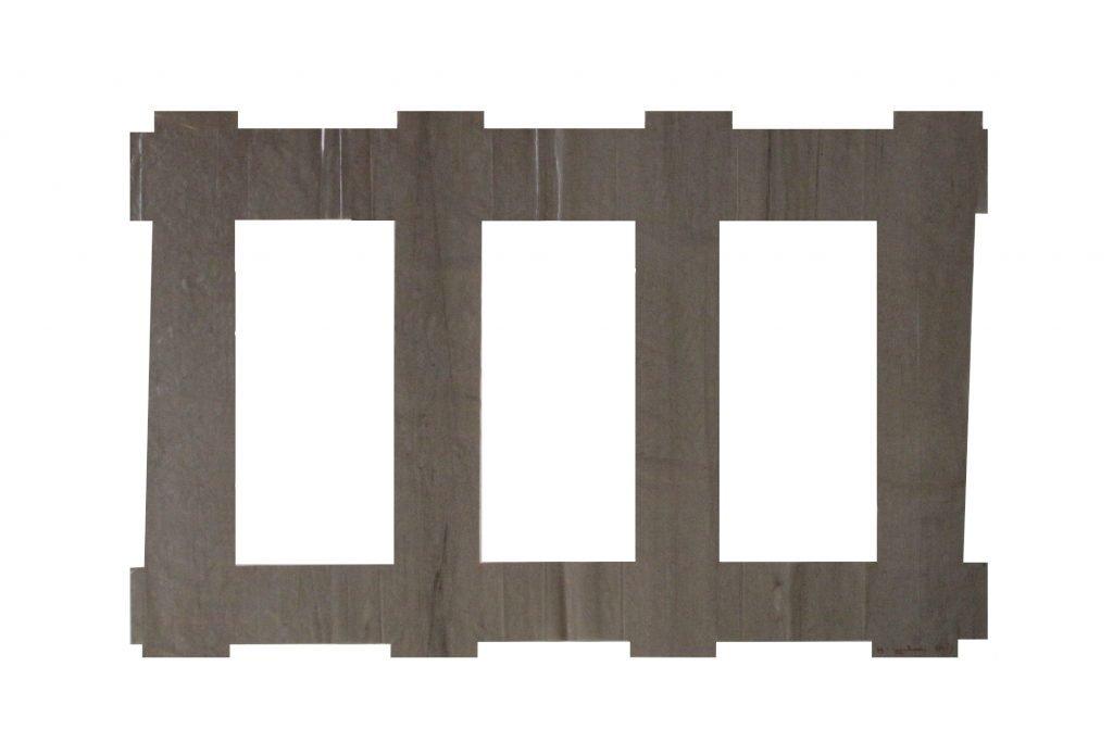 """ANTONIO SCACCABAROZZI """"Senza titolo"""" - 1999 - polietilene 53.5X80 cm"""