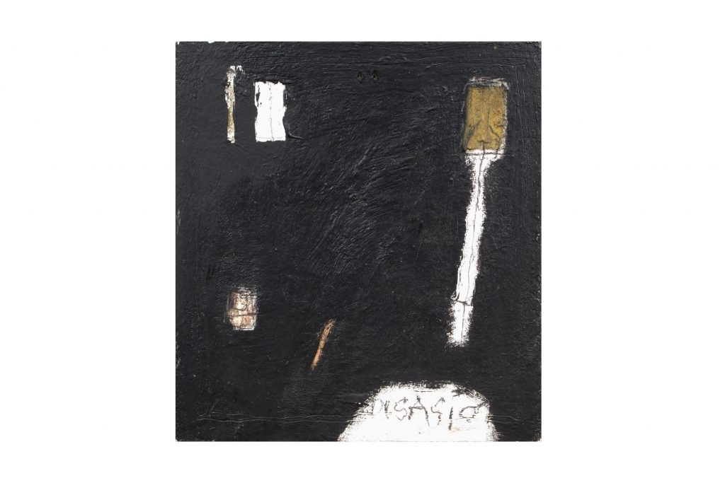 "MAGDALO MUSSIO ""Untitled"" - 1985 - oil on board 27.5X24 cm"