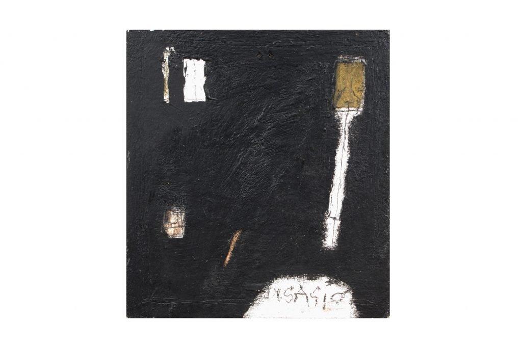 """MAGDALO MUSSIO """"Senza titolo"""" - 1985 - olio su tavola 27.5X24 cm"""
