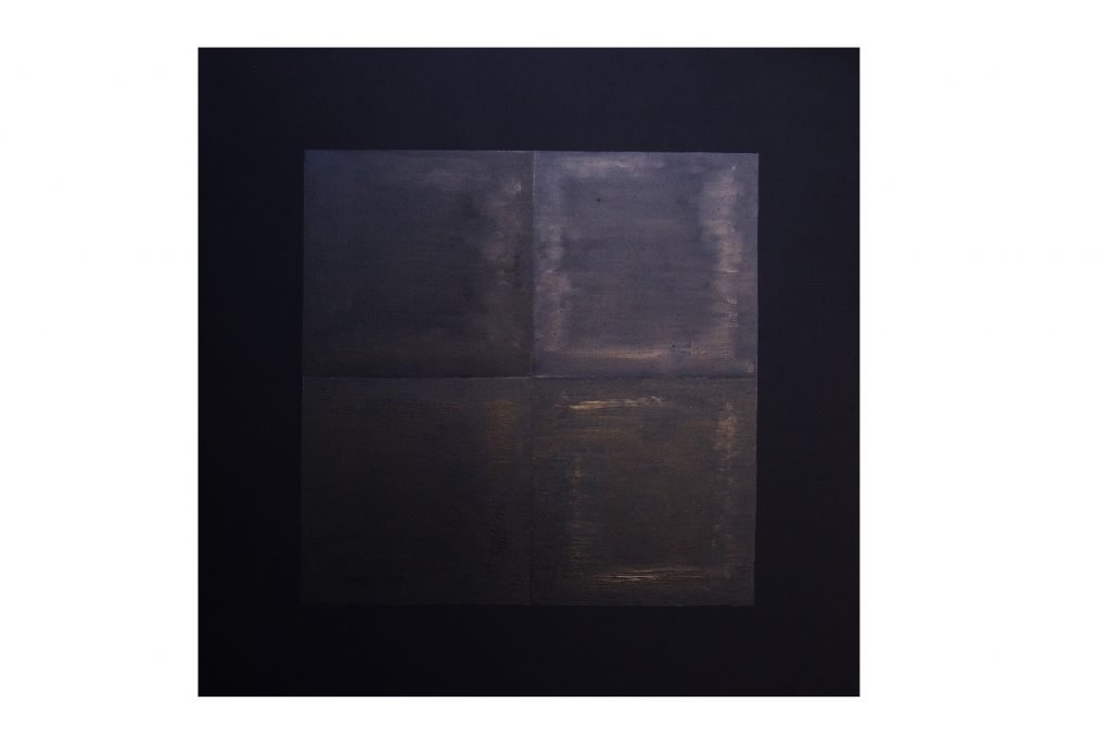 """ENZO CACCIOLA """"Untitled"""" - 1974- industrial paint on canvas 100x100 cm"""