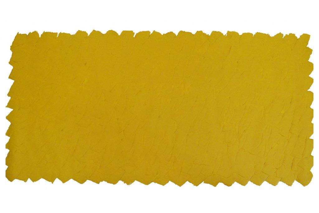 """ANTONIO SCACCABAROZZI """"Essenziale giallo"""" - 1990 - acrilico rosso e mastice 120x240 cm"""