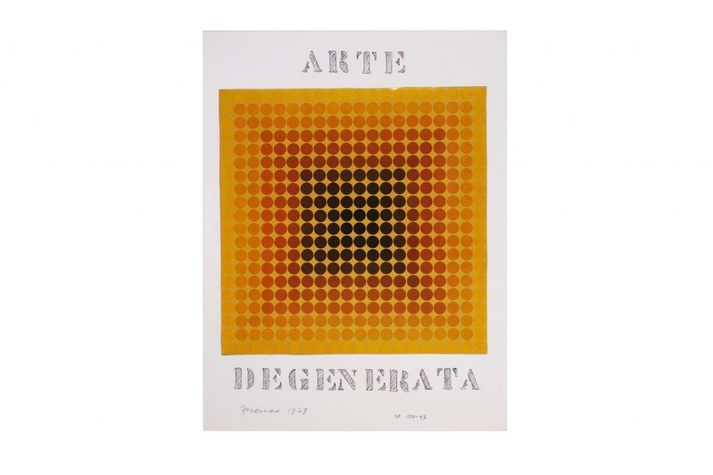 """SARENCO """"Arte degenerata"""" -1973- collage 32.5X24 cm"""