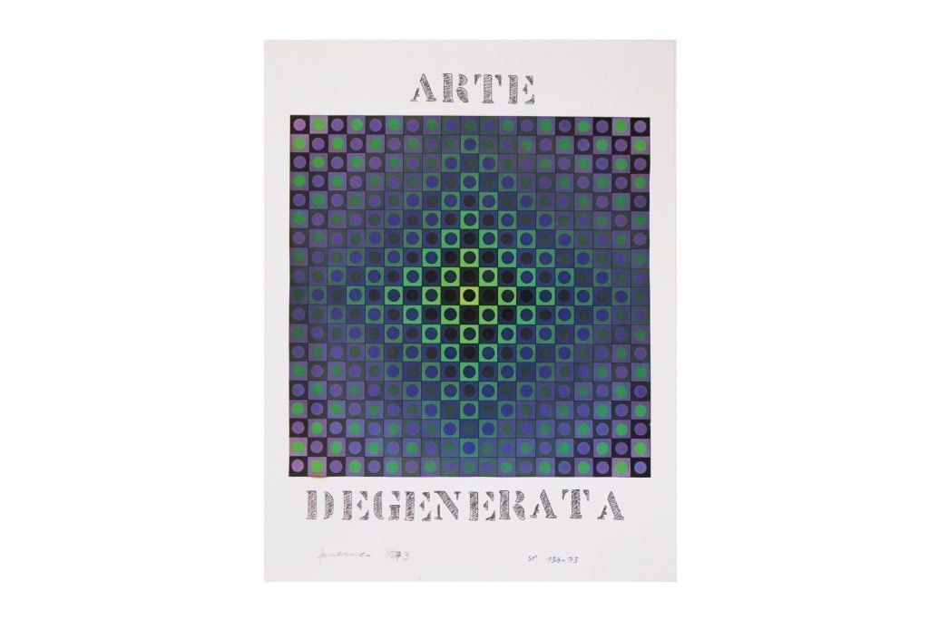 "SARENCO ""Arte degenerata"" -1973- collage 32.5X24 cm"