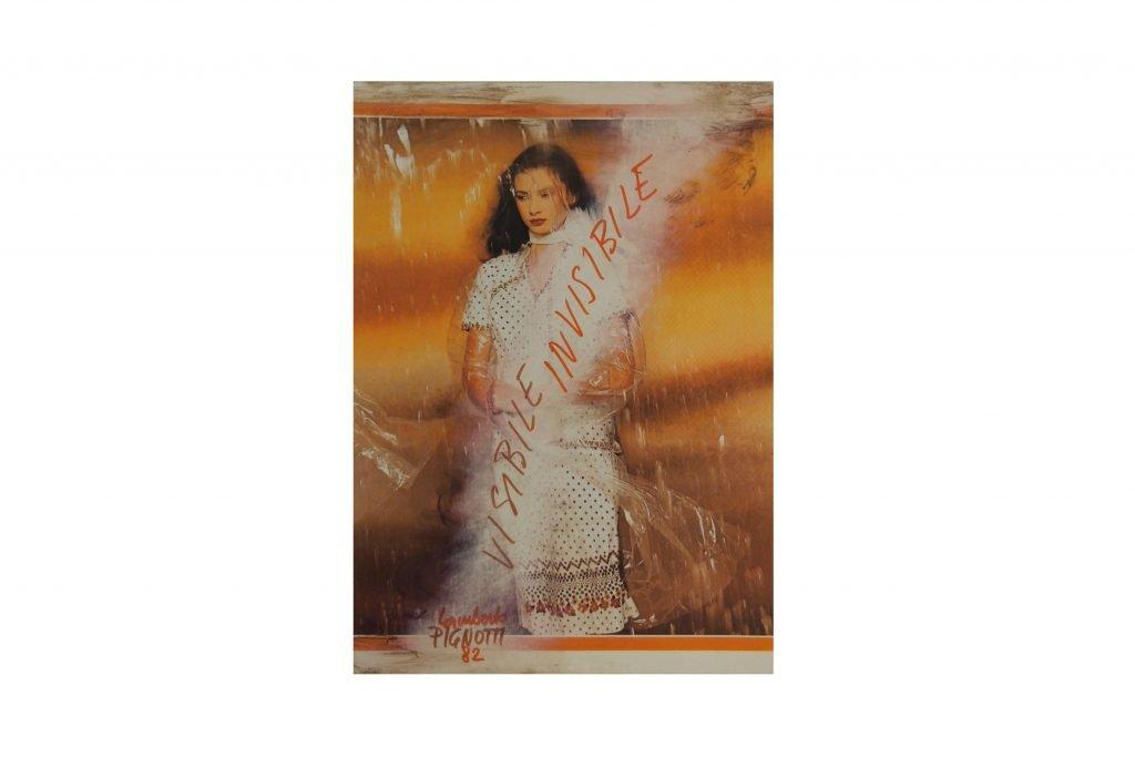 LAMBERTO PIGNOTTI Visibile invisibile -1982- intervento su foto di rivista 31x22,1 cm