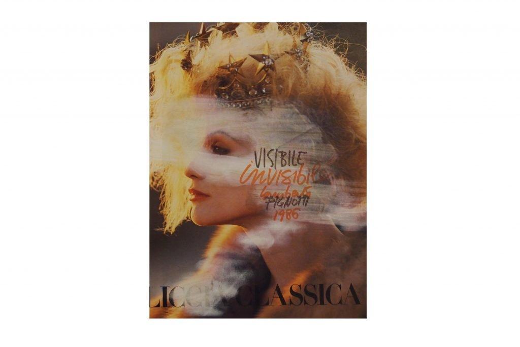 LAMBERTO PIGNOTTI Visibile invisibile -1986- intervento su foglio di rivista 28,5x20,3 cm