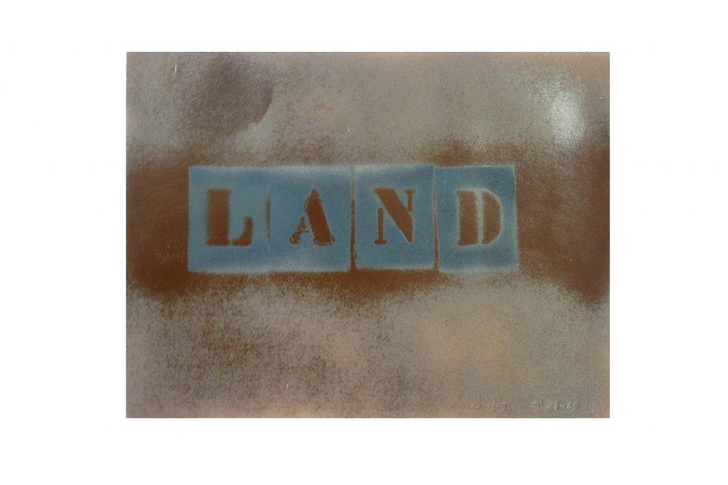 """SARENCO """"Land"""" -1969 - tecnica mista su carta 24X32.5 cm"""