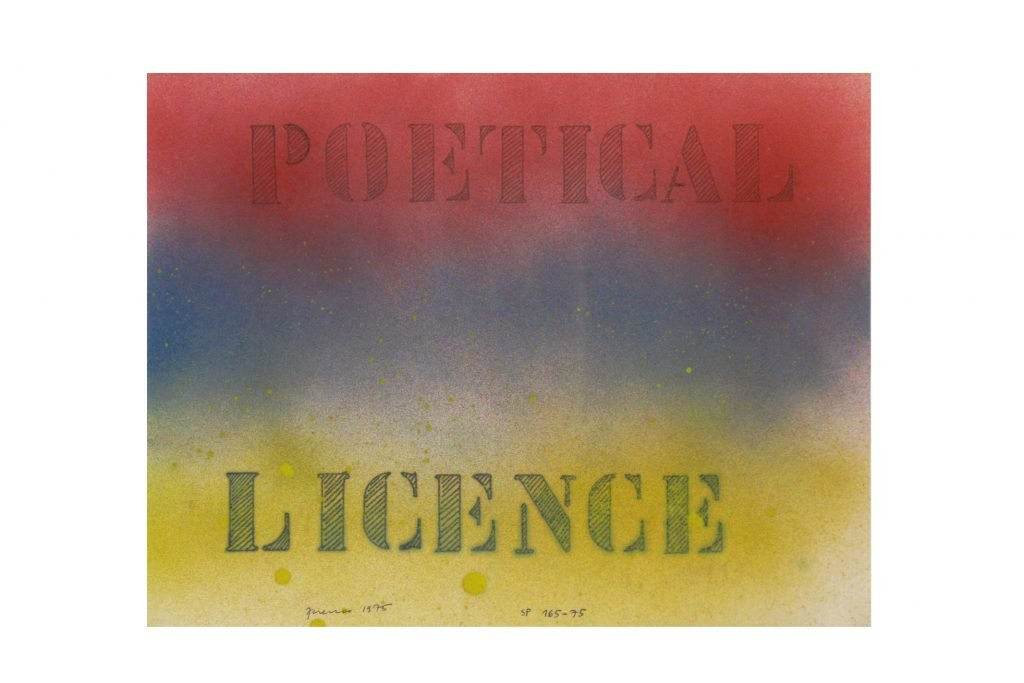 "SARENCO ""Poetical license"" - 1975 - collage 24X32.5 cm"